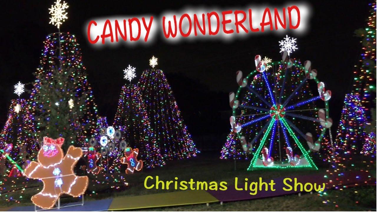 Candy Wonderland Christmas Light Show Houston - YouTube