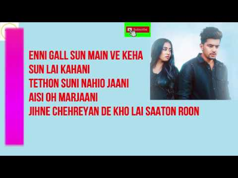 WITHOUT YOU LYRICS - Jass Manak  HD LRICS VIDEO( LRICS TV)