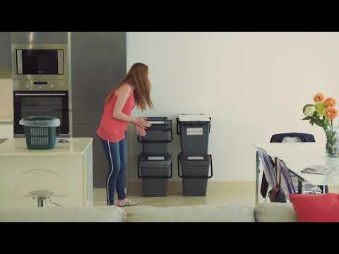 Stackable Waste Separation Bins
