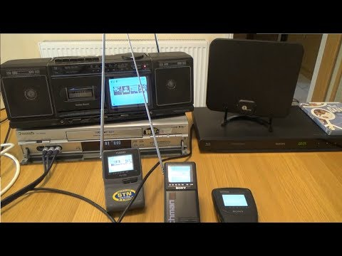 1980s-1990s Pocket Televisions working in 2018
