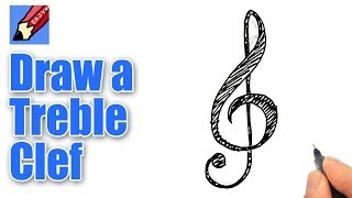 How to draw a Treble Clef Real Easy