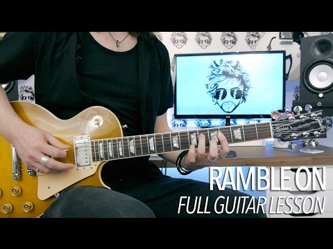 Ramble On - Led Zeppelin (Full Electric Guitar Lesson)