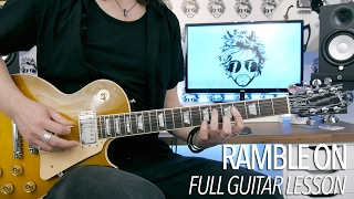 "How To Play ""Ramble On"" by Led Zeppelin (Full Electric Guitar Lesson)"