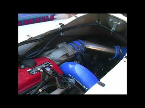 honda aquatrax f12x turbo - custom open straight through exhaust pipe system