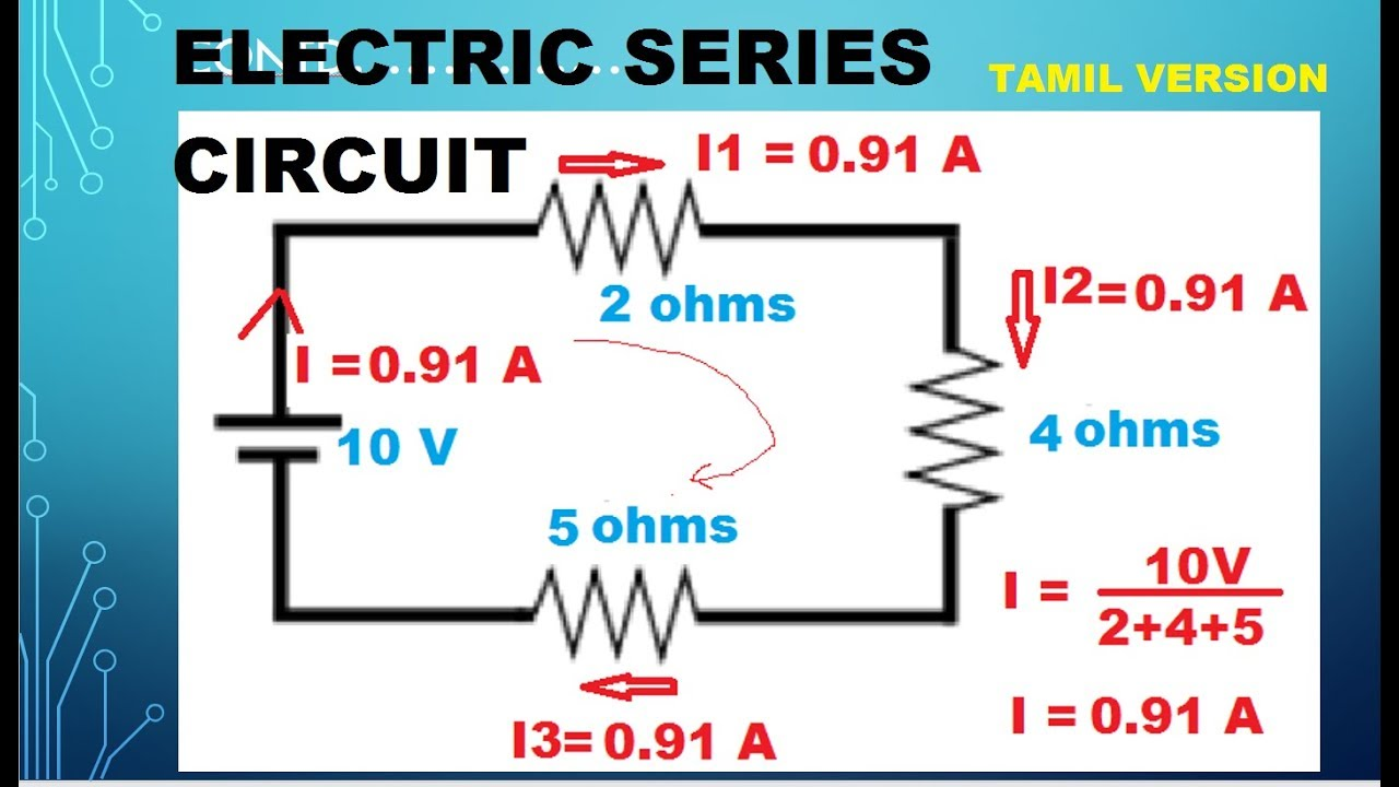 Electrical Circuits Series Tutorial 4 Tamil Youtube Of