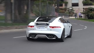Jaguar F Type Coupe R - Burnout, Revs & Accelerations!!