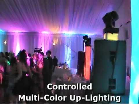 High-energy wedding light show