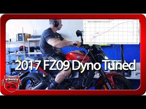 2017 FZ09 MT09 Full Exhaust ECU Flash Dyno Tune Results