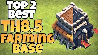 Top 2 TH8.5/8.75 Trophy/Farming Base 2018 | TH9 Farming Base (Without X-Bows) | Clash of Clans