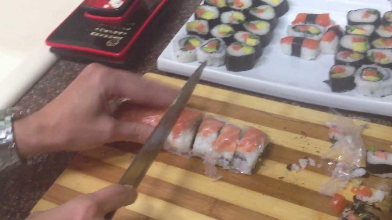 Японский нож для нарезки роллов изготовление ножей под заказ