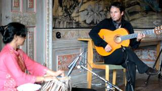Suranjana Ghosh and Erik Steen in a short tabla & guitar improvisation
