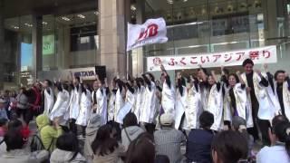 チームJTB (ふくこい3回目/岩田屋前広場)2015年10月11日.
