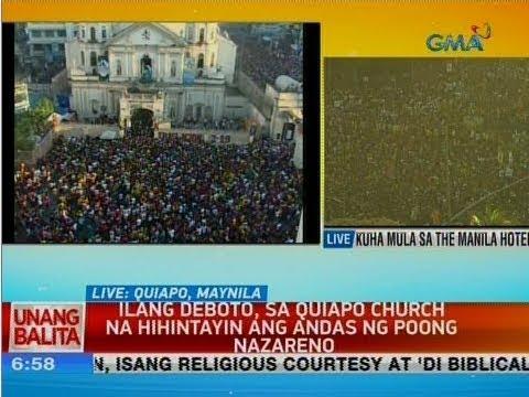 UB: Ilang deboto, sa Quiapo Church na hihintayin ang andas ng Poong Nazareno