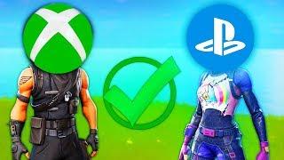 JOUER ENTRE XBOX ET PS4/PC SUR FORTNITE BATTLE ROYALE !?