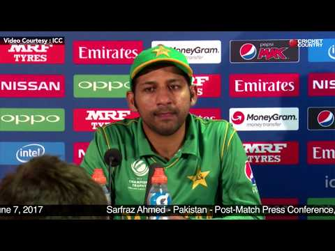 Sarfraz Ahmed - Post Match Press Conference, Pakistan vs South Africa Match 7, June 7, 2017