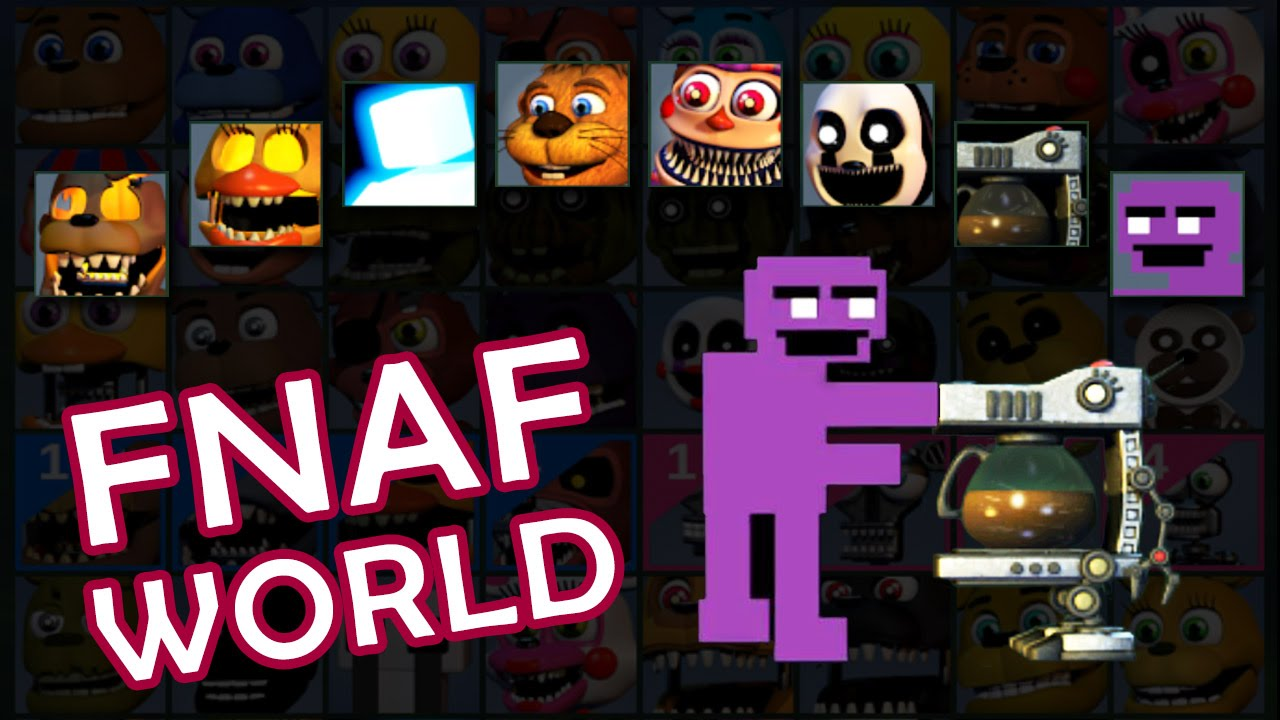 FNAF World 1.2 - Unlock ALL CHARACTERs | Secret Mini Games ...