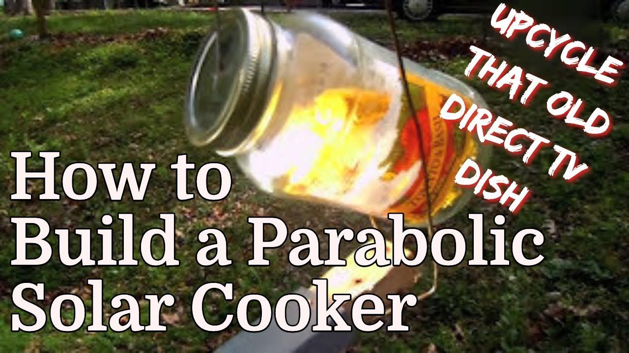 How To Build A Parabolic Solar Heater Youtube