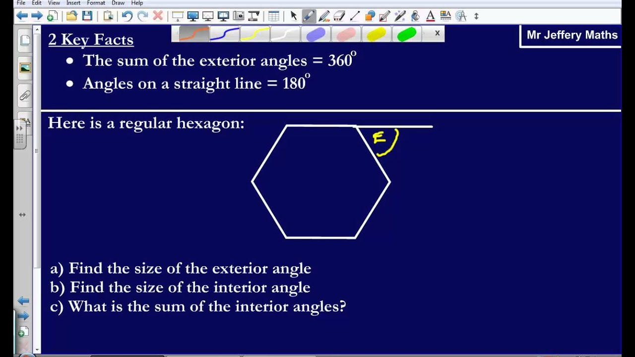 Interior And Exterior Angles Of Regular Polygons Gcse Edexcel Maths Youtube