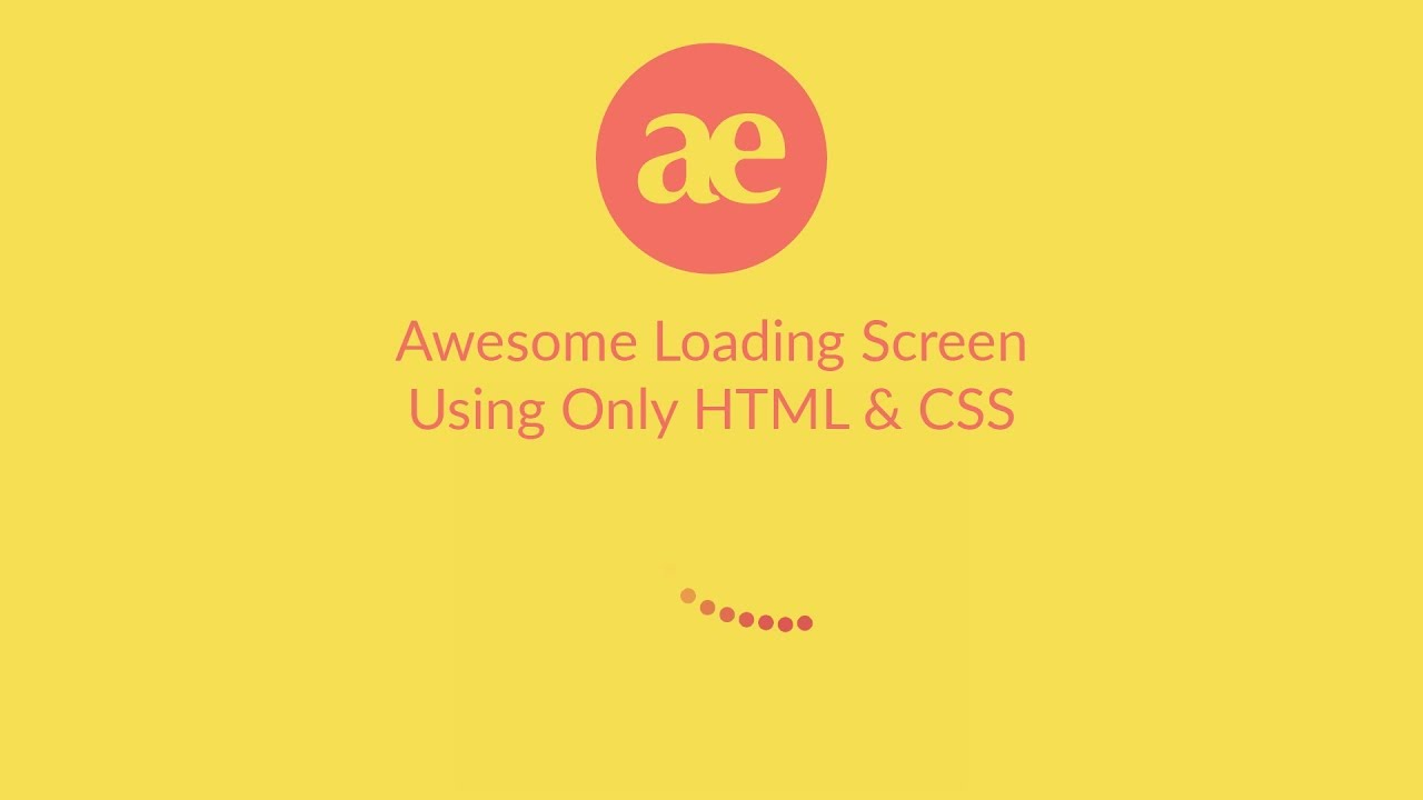 Awesome loading screen using only HTML & CSS - DEV Community