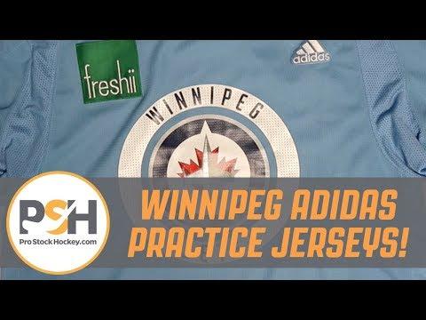 A Close Look At A Winnipeg Jets Adidas Practice Jersey