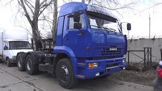 2017 KAMAZ-6460. Start Up, Engine, and In Depth Tour.