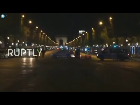 LIVE from Champs-Élysées after reports of shooting