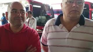 Choferes de Ersa protestan en la Terminal por despidos
