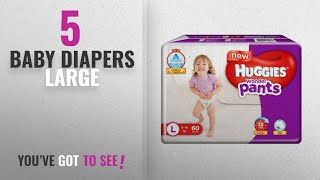 Top 10 Baby Diapers Large [2018]: Huggies Wonder Pants Large Size Diapers (60 Count)