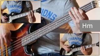 Как играть на бас гитаре Мастер кукол - Князь  ( видеоурок Guitar riffs) + табы