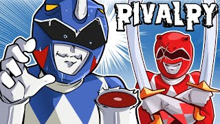 BLUE VS RED POWER RANGERS! - Rivalry (Cartoonz Vs H2ODelirious)