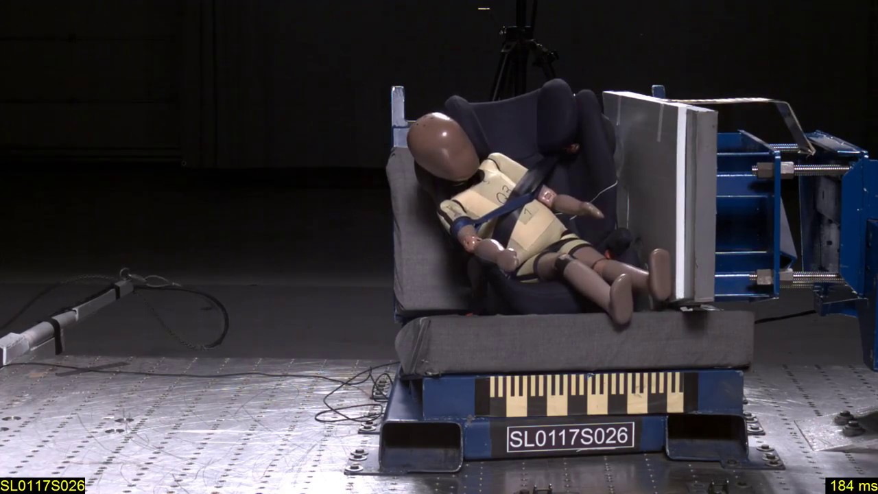 crash test cybex solution m sl prueba de impacto 2017. Black Bedroom Furniture Sets. Home Design Ideas