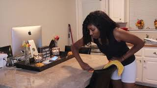 Extreme motivational clean with me | stay at home mom | Black family | Vlogtober