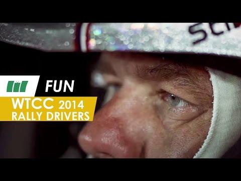 Rally drivers Sebastien Loeb & Yvan Muller in the Citroen   WTCC 2014   FUN