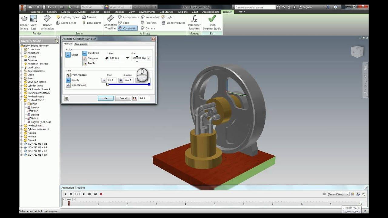 Using Inventor Studio to Create Animations