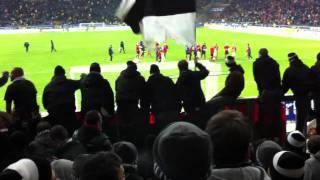 SGE nach dem Spiel gegen Dortmund