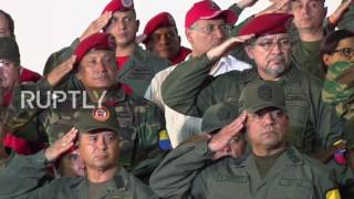 Venezuela  Maduro leads ceremony on 25th anniversary of Chavez' rebellion attempt