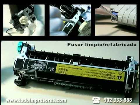 Reparación de fusores de impresoras HP