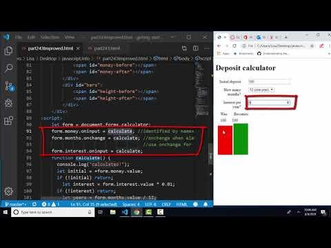 javascript.info The Modern JavaScript Tutorial Part 2: 4.3 Events: change and input thumbnail