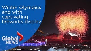 Winter Olympics 2018 in Pyeongchang concludes with captivating fireworks display