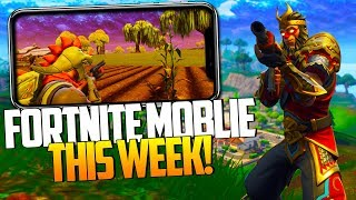 FORTNITE MOBILE THIS WEEK RELEASE DATE - FREE CODES iOS/ANDROID in Fortnite: Battle Royale