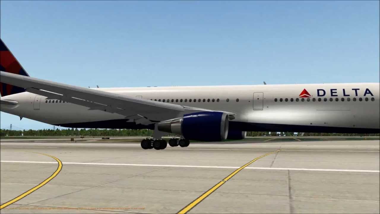 MAYDAY! - ENGINE FAILURE @ V1 Delta 767-400ER - X-Plane 10
