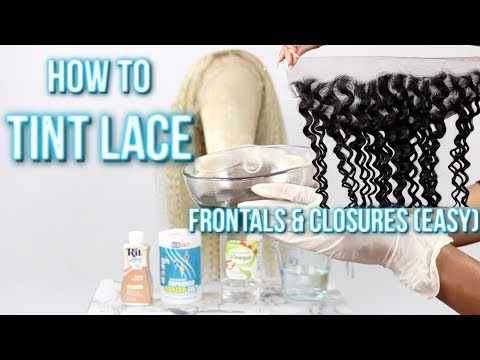 How To Tint Lace | Jazzie Jae T