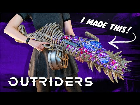 Creating the Grim Marrow from Outriders with foam and LEDs!