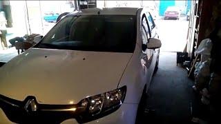 Renault Logan замена сайлентблоки в рычагах и шаровой опоры
