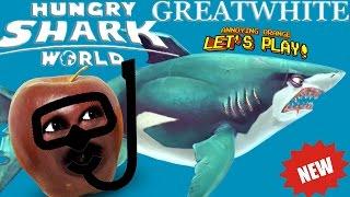 Midget Apple Plays - Hungry Shark World: GREAT WHITE!
