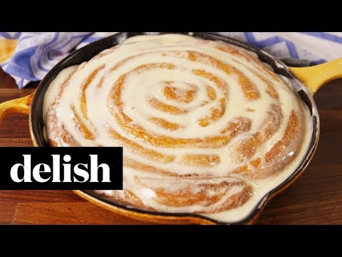 How to Make a Giant Cinnamon Roll | Recipe | Delish