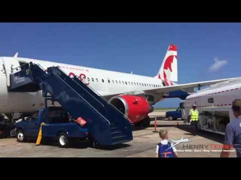 Bridgetown Barbados airport departure rouge Air Canada A319 1920X1080p HD quality
