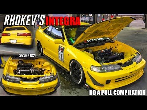 RHDKEV K24 Integra Doing Pulls Everywhere!! Compilation Video