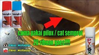 cat / repaint velg honda beat modal 100 ribuan doang part 2