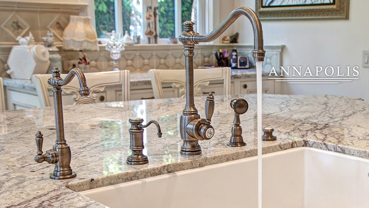 Waterstone Annapolis Kitchen Faucet - YouTube